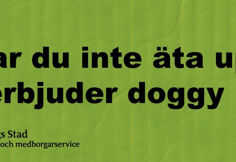 Doggy bag-tag swedish people feel embarrasse to ask for a doggy bag